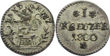 Kreuzer 1800 Hessen-Darmstadt Ludwig X. 1790-1806. sehr schön +