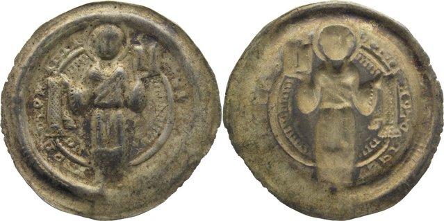 Brakteat 1160-1177 Halberstadt, Bistum Gero von Schermbke 1160-1177. Prägeschwäche, sehr schön
