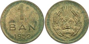 Ban 1952 Rumänien Volksrepublik 1947-1965. leicht fleckig, vorzüglich - prägefrisch