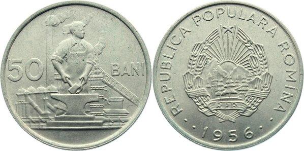 50 Bani 1956 Rumänien Volksrepublik 1947-1965. vorzüglich - Stempelglanz