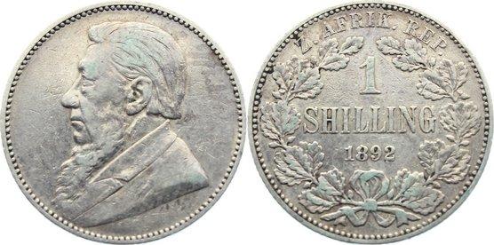 Shilling 1892 Südafrika sehr schön