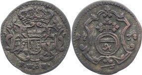 Pfennig 1738 FW Sachsen-Albertinische Linie Friedrich August II. 1733-1763. sehr schön