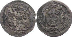 Pfennig 1746 FW Sachsen-Albertinische Linie Friedrich August II. 1733-1763. sehr schön