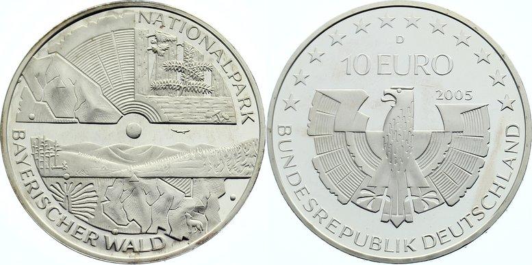 10 Euro 2005 D Gedenkmünzen Polierte Platte