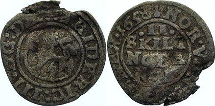 2 Skilling 1658 Norwegen Friedrich III. 1648-1670. Randfehler, schön +