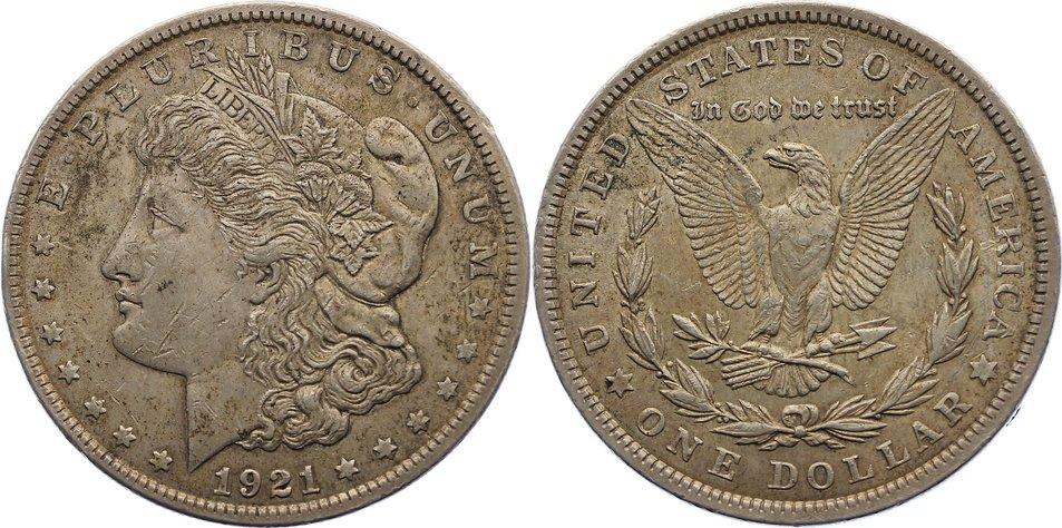 Dollar 1921 USA sehr schön