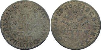 12 Deniers 1726 Lothringen, Herzogtum Leopold I. Karl Joseph 1697-1729. selten, fast sehr schön