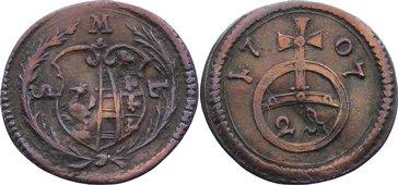 2 Pfennig 1707 Sachsen-Meiningen Ernst Ludwig 1706-1724. leicht gewellt, sehr schön