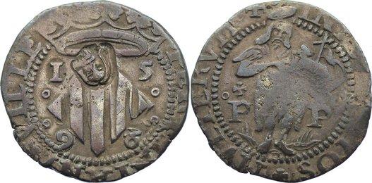 2 Sols 1596 Frankreich-Perpignan, Stadt selten, sehr schön