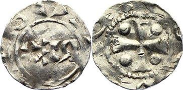 Pfennig 1002-1024 Niederlande-Deventer, königliche Münzstätte Heinrich II. 1002-1024. sehr schön