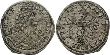 Kreuzer 1705 Brandenburg-Bayreuth Christian Ernst 1655-1712. sehr schön