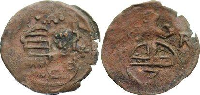 3 Pfennig 1621-1623 Mansfeld-Kippermünzen Anonyme Gepräge 1621-1623. Randfehler, Prägeschwäche, sehr schön
