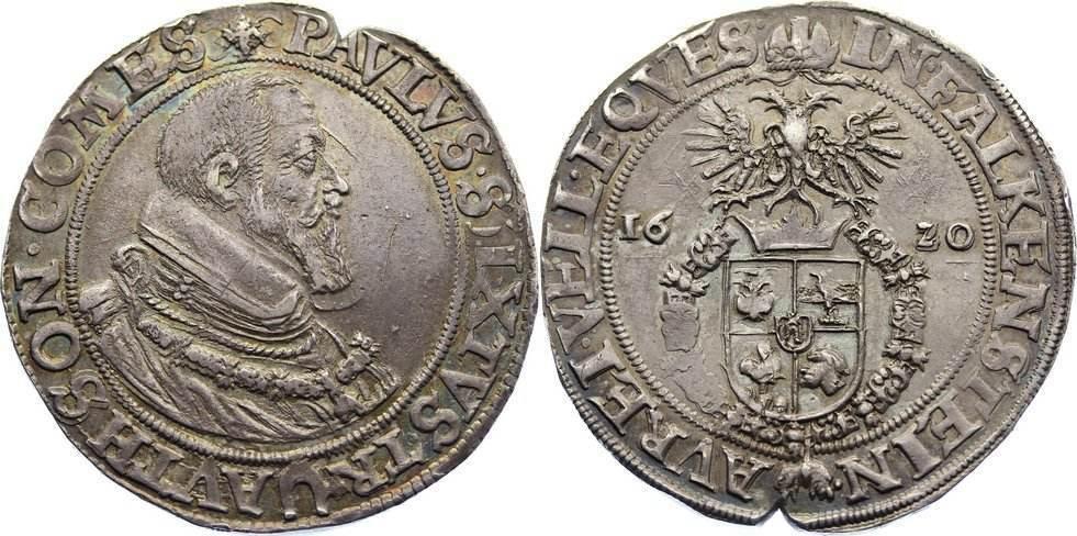 Taler 1620 Trautson Paul Sixtus 1615-1621. Randkerbe, min. Kratzer, vorzüglich