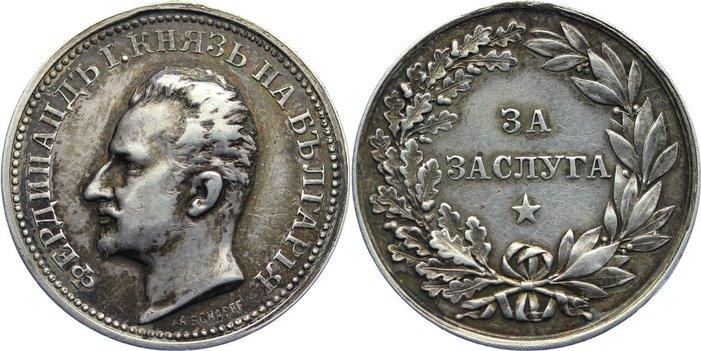 1887-1918 Bulgarien Ferdinand I. von Coburg 1887-1918. entfernte Öse, sehr schön