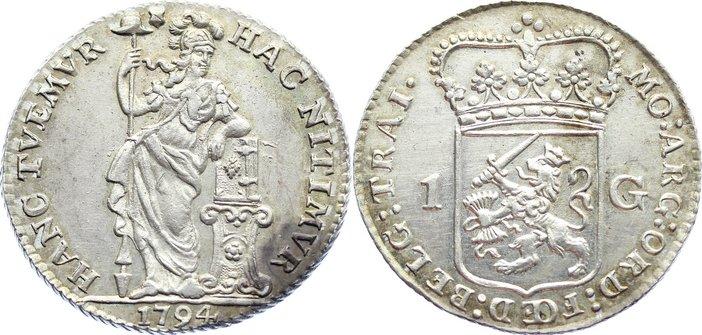 1 Gulden 1794 Niederlande-Utrecht, Provinz vorzüglich