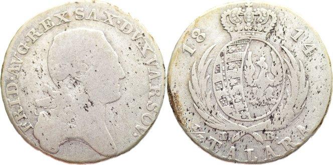 1/3 Talara 1814 IB Sachsen-Albertinische Linie Friedrich August I. 1806-1827. schön