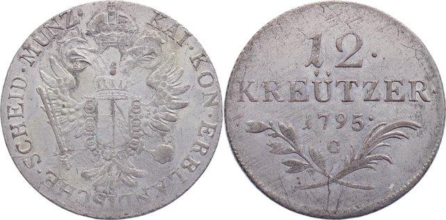 12 Kreuzer 1795 C Haus Habsburg Franz II. (I.) 1792-1835. sehr schön +