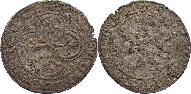 Schockgroschen 1428-1436 Sachsen-Markgrafschaft Meißen Friedrich II., Friedrich und Sigismund 1428-1436. kl. Randfehler, fast sehr schön