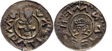 Denar 1061-1092 Böhmen Wratislaw II. 1061-1092. kl. Prüfschnitt, Prägeschwäche, vorzüglich