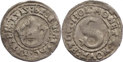 1/2 Örtug 1 1515 Schweden Sten Sture der Jüngere 1512-1520. selten, Prägeschwäche, sehr schön +