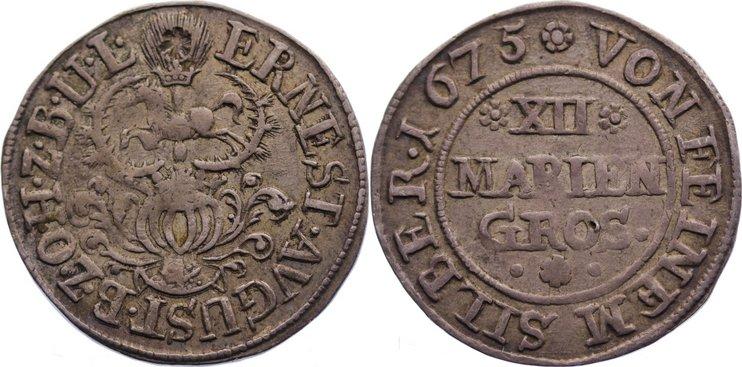 12 Mariengroschen 1675 Osnabrück, Bistum Ernst August I. 1662-1698. sehr schön
