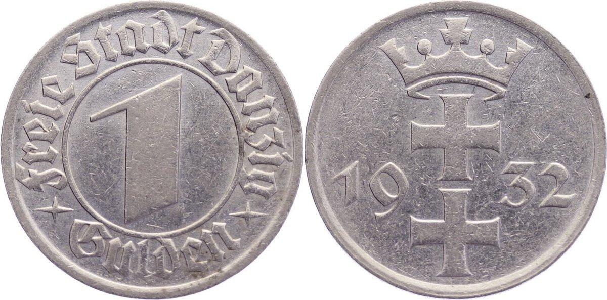 1 Gulden 1932 Danzig sehr schön-vorzüglich