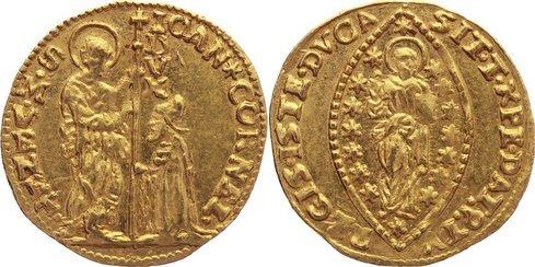 Zecchino 1709-1722 Italien-Venedig Giovanni II. Corner 1709-1722. Gold, vorzüglich