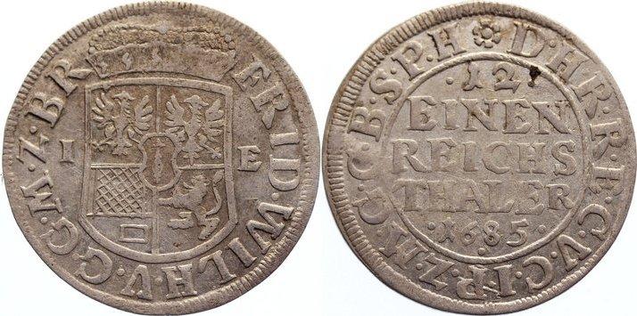 1/12 Taler 1685 IE Brandenburg-Preußen Friedrich Wilhelm 1640-1688. sehr schön - vorzüglich