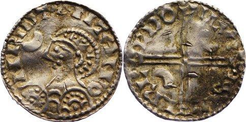 Pfennig 1042-1047 Dänemark Magnus 1042-1047. Belagreste, leicht gewellt, sehr schön - vorzüglich
