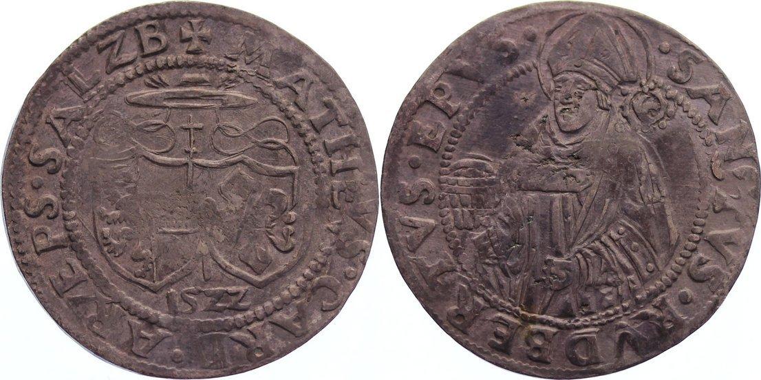Batzen 1522 Salzburg, Erzbistum Matthäus Lang von Wellenburg 1519-1540. kl. Schrötlingsfehler, sehr schön +