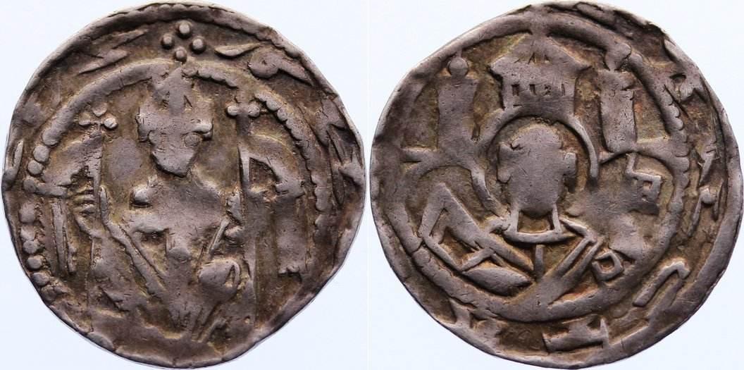 Pfennig 1208-1212 Köln, Erzbistum Dietrich von Heinsberg 1208-1212. l. dezentriert, fast sehr schön
