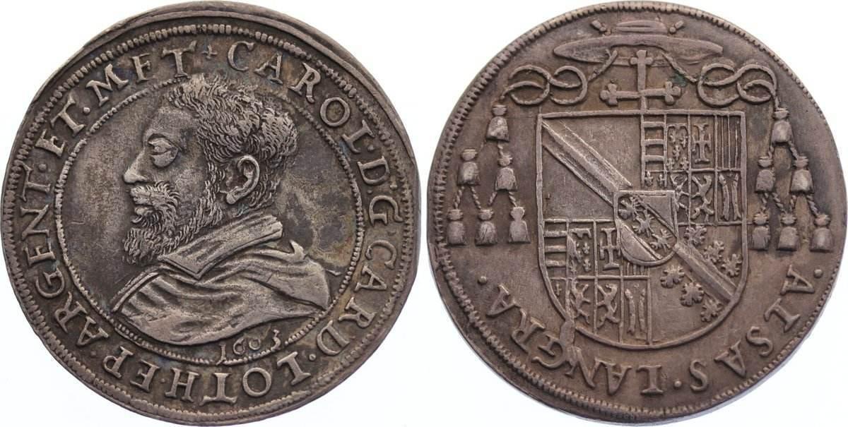 Teston 1603 Straßburg, Bistum Karl von Lothringen 1593-1607. sehr schön