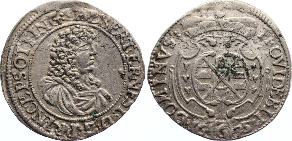 6 Kreuzer 1675 Öttingen Albrecht Ernst I. 1659-1683. sehr schön