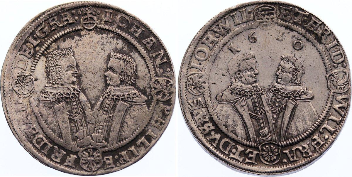 1/2 Taler 1610 WA Sachsen-Altenburg Johann Philipp und seine drei Brüder 1603-1625. selten, sehr schön