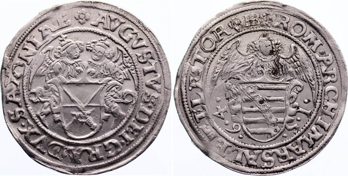 Schreckenberger 1564 HB Sachsen-Albertinische Linie August 1553-1586. zaponiert, sehr schön +