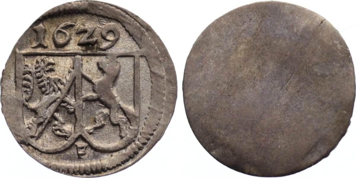 Einseitiger Pfennig 1629 F Bamberg, Bistum Johann Georg Fuchs von Dornheim 1623-1633. vorzüglich