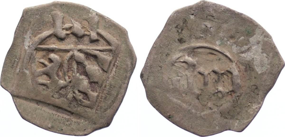 Pfennig 1443-1460 Pfalz-Oberpfalz Kft. Ludwig III., Johann von Neumarkt und Otto I. von Mosbach 1443-1460. sehr schön