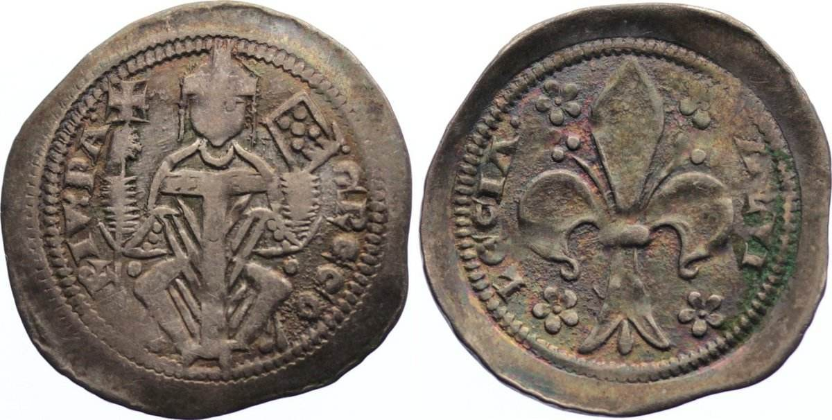 Denar 1251-1269 Italien-Aquileia, Patriarchat Gregorio di Montelongo 1251-1269. sehr schön