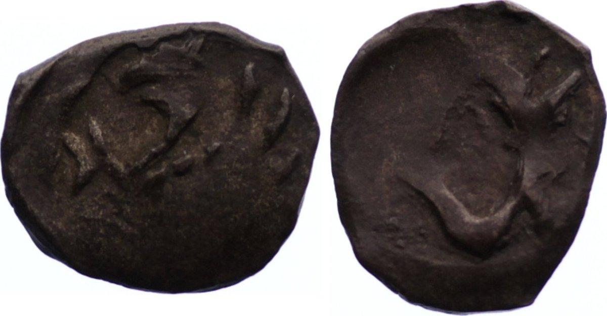 Pfennig 1413-1434 Pommern-Stettin Kasimir 1413-1434. Prägeschwäche, sehr schön