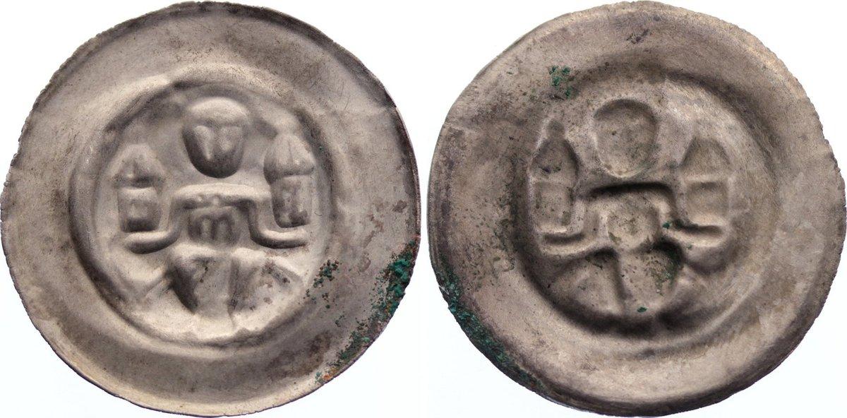 Brakteat 1236-1241 Halberstadt, Bistum Ludolf I. 1236-1241. selten, sehr schön