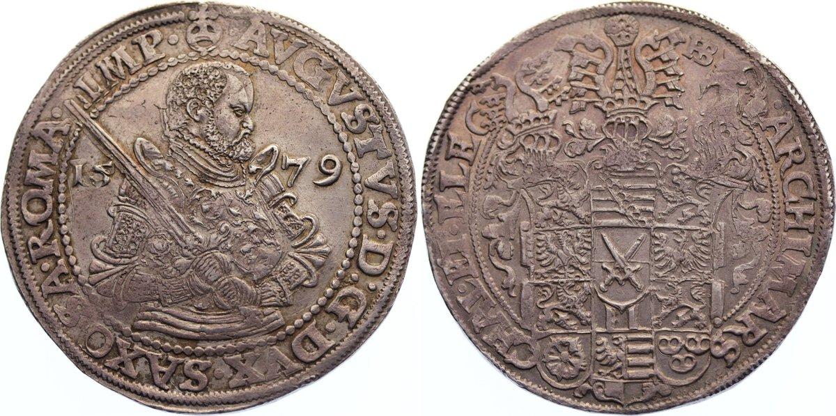 Taler 1579 HB Sachsen-Albertinische Linie August 1553-1586. fast vorzüglich