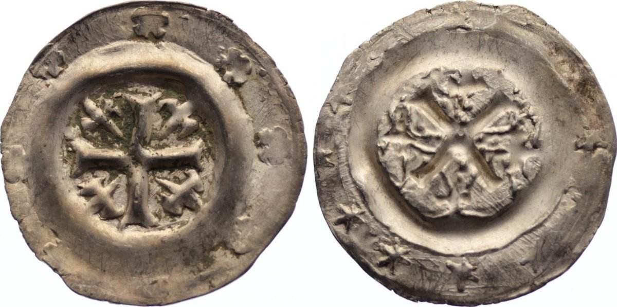 Pfennig 1242-1257 Bamberg, Bistum Heinrich I. von Bilversheim 1242-1257. leichter Fundbelag, sehr schön - vorzüglich