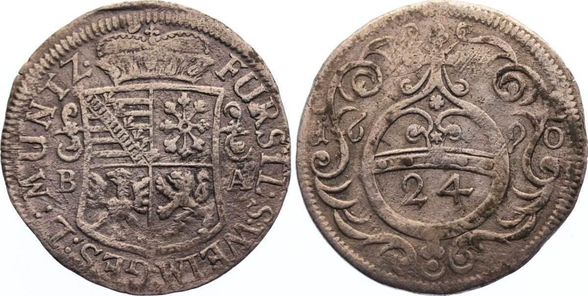 Groschen 1690 BA Sachsen-Neu-Weimar Wilhelm Ernst 1683-1728. sehr schön