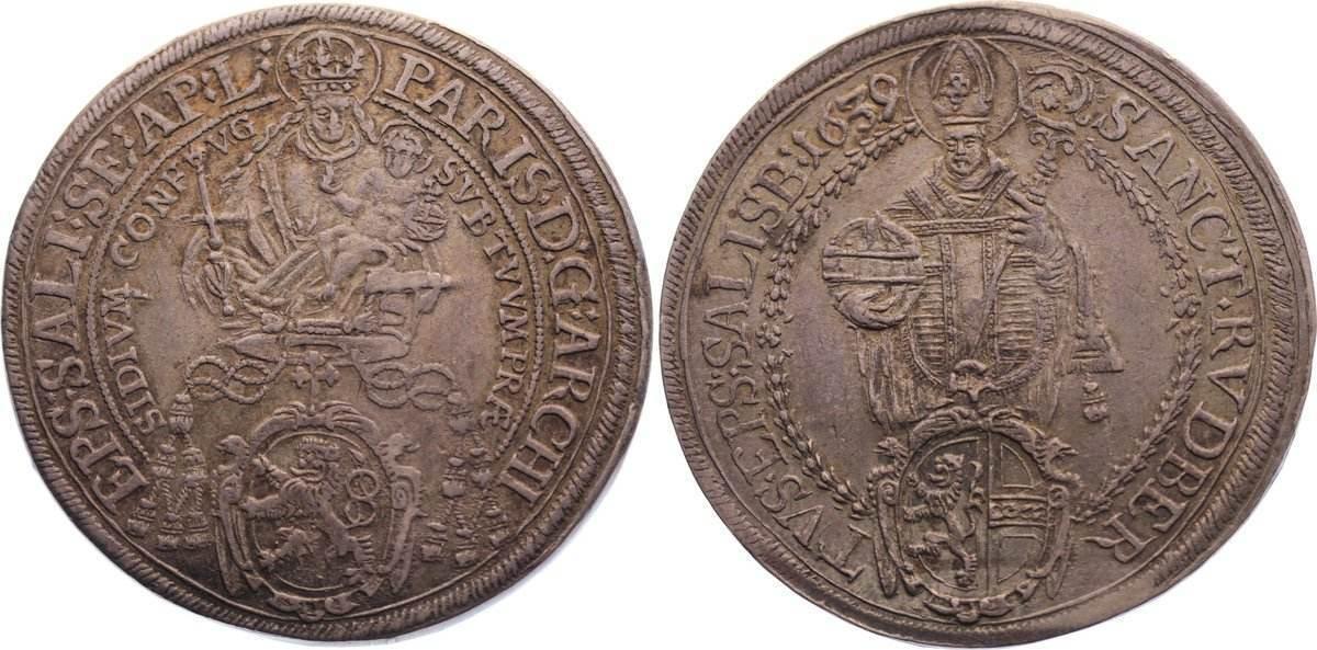 Taler 1639 Salzburg, Erzbistum Paris von Lodron 1619-1653. sehr schön +