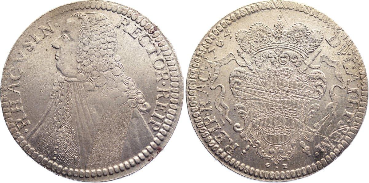 Tallero rettorale 1764 GB Ragusa (Dubrovnik) Republik 1358-1805. justiert, vorzüglich
