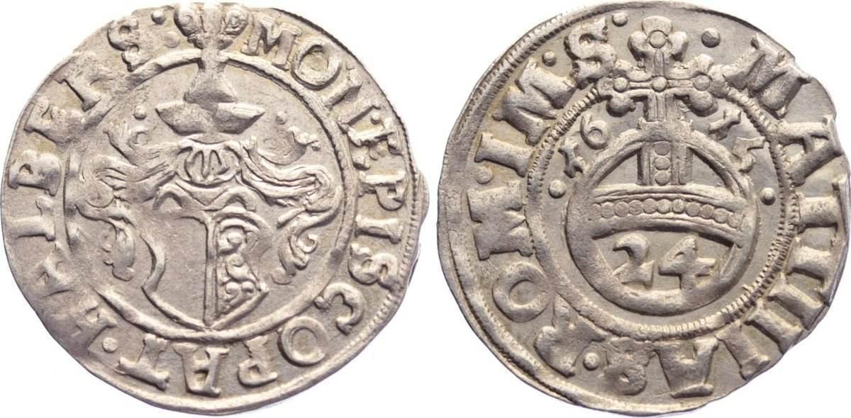 1/24 Taler 1615 Halberstadt, Domkapitel vorzüglich