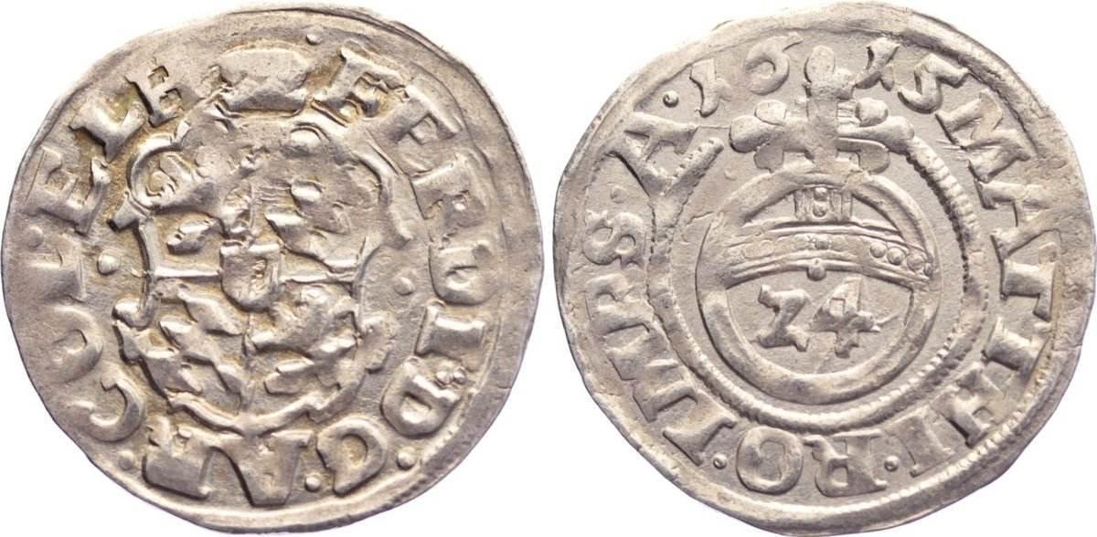 1/24 Taler 1615 Hildesheim, Bistum Ferdinand von Bayern 1612-1650. sehr schön +