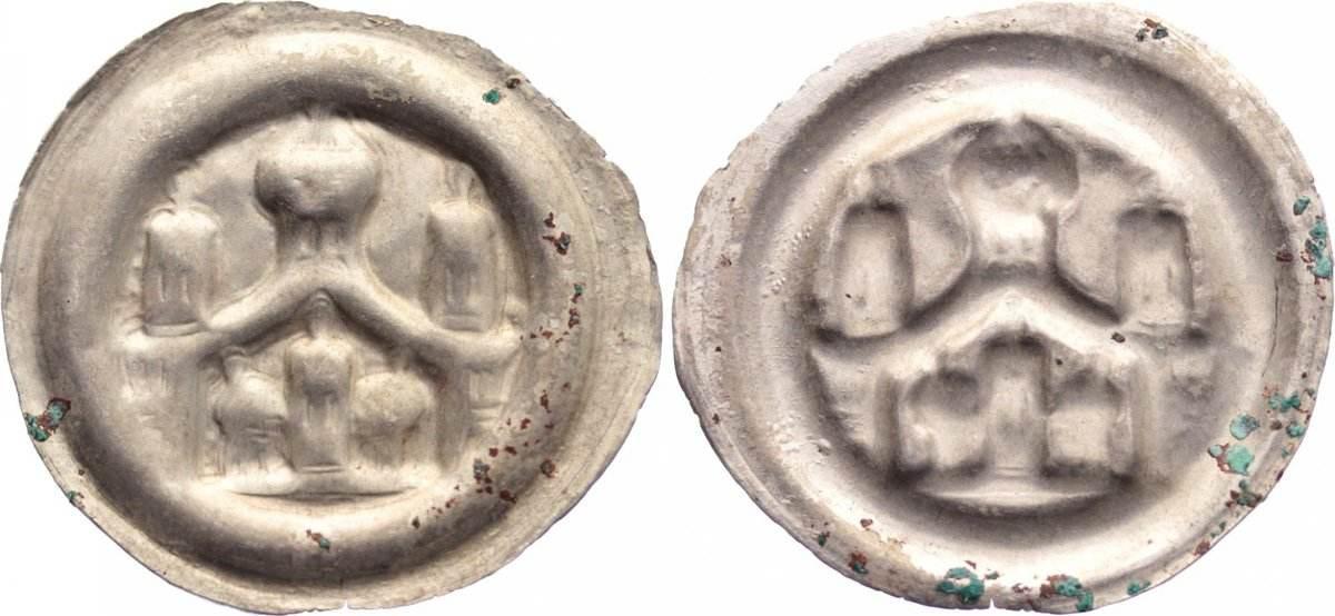Brakteat 1156-1190 Sachsen-Meißen, markgräflich wettinische Mzst. Otto der Reiche 1156-1190. sehr schön