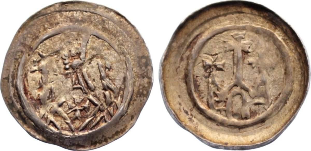 Pfennig 1223-1244 Straßburg, Bistum Berthold von Teck 1223-1244. sehr schön +
