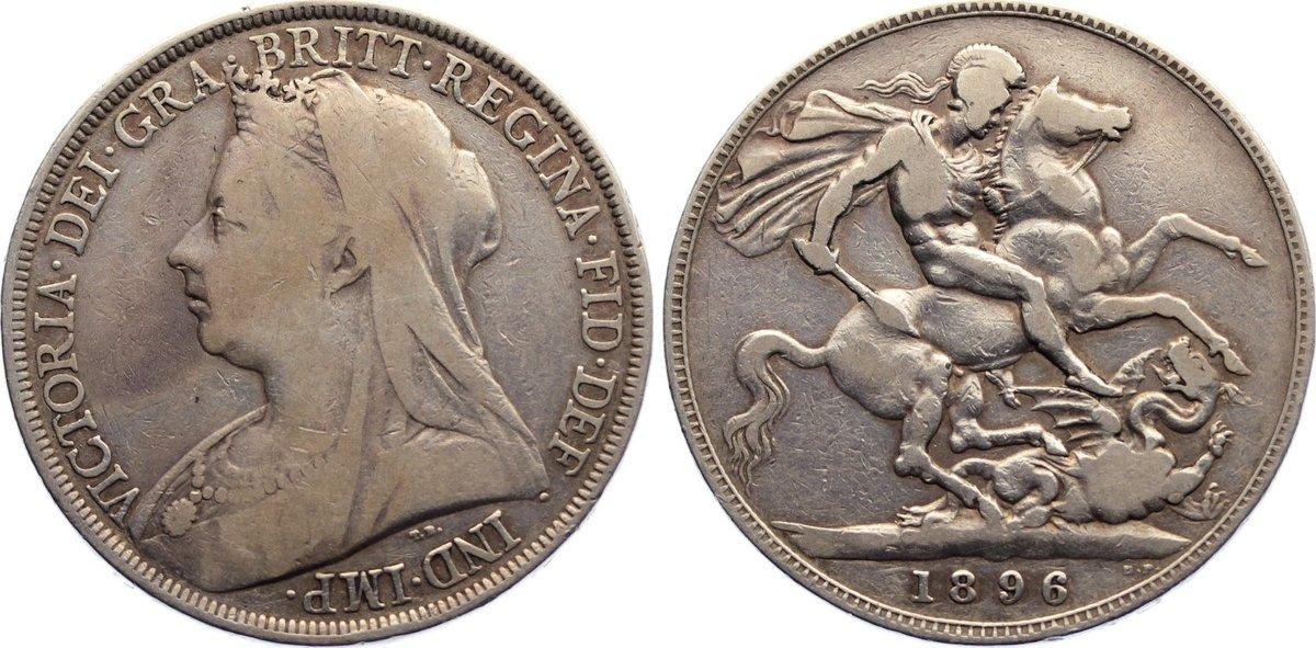 Crown 1896 Großbritannien Victoria 1837-1901. fast sehr schön